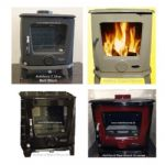 heritage dromore 5kw air intake multi fuel stove in 4 colours
